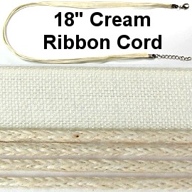 "50pcs-pk 18"" Cord 4Strings-1Ribbon Cream NK306"