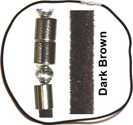 "20"" Inch Felt Cord Magnetic End Dark Brown Ns398"