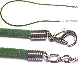 "18"" Green Felt Rope with Hook Lock"