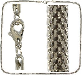 "12pc 27"" Inches Metal Chain Gray NK411"