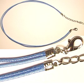 Light Blue and Blue 2 Rope Necklace narrow head