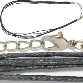 "1pc 18"" 5-String Cord Necklace Dark Gray Ns450"