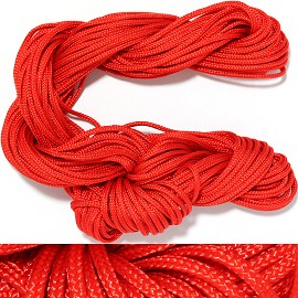 "55' Feet Woven String 1/16"" Wide Red Ns455"