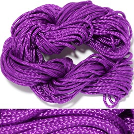 "55' Feet Woven String 1/16"" Wide Purple Ns459"