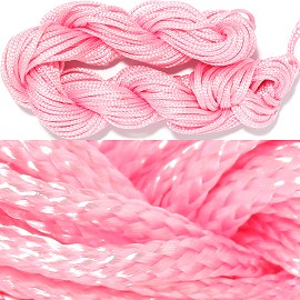 "55' Feet Woven String 1/16"" Wide Pink Ns460"