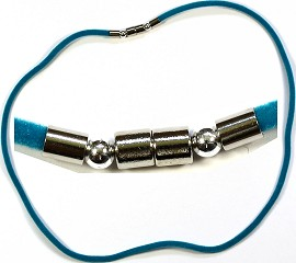 "1pc 18"" Teal Felt Cords Magnetic End Connecter Ns48"