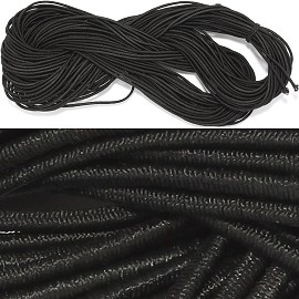 "2pc 280"" Inches Stretch String 1mm Thick Black Ns493"