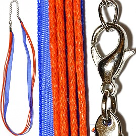 "18"" Orange Blue 4 Rope 1 Ribbon Narrow Head Ns494"