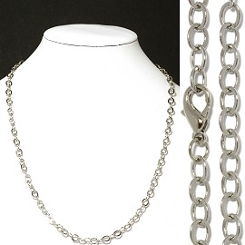 "1pc 18"" Chain Necklace Silver 5mm Wide Ns524"