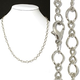"1pc 18"" Chain Necklace Silver 6mm Wide Ns525"