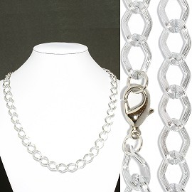 "1pc 20"" Chain Necklace 11mm Wide Silver Ns531"