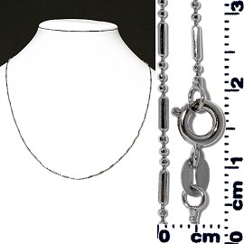 "1pc 16"" Chain Necklace Cord Silver Ns532"