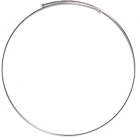 "Bendable Choker 16"" Silver 4mm Thickest, 2mm Line Ns540"