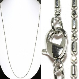 "1pc 24"" Silver Chain NS557"