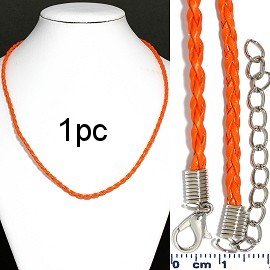 "1pc 18"" Braided Rope Cord Orange Ns563"