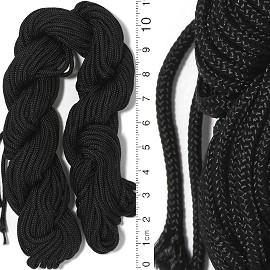 50' Feet Woven String 2mm Thick Black Ns634