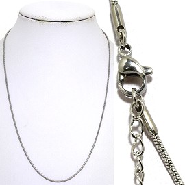 "20"" Stainless Steel Chain Necklace 1.5mmLobster Claw End Ns635"