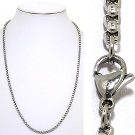 "20"" 3mm Stainless Steel Chain Necklace Lobster Claw End Ns637"