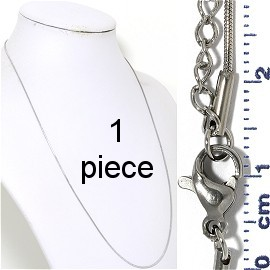 "1pc 19.5"" to 21"" Stainless Steel Snake Chain Necklace 1mm Ns643"