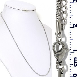 "1pc 17.5"" to 19.5"" Stainless Steel Snak Chain Necklace 2mm Ns644"