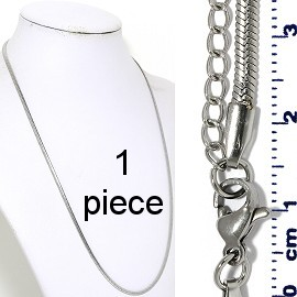 "1pc 20"" to 22"" Stainless Steel Chain Necklace 3mm Ns646"
