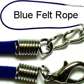 "18"" Blue Felt Rope Ns92"