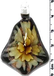 Glass Pendant Bell Yellow PD1297