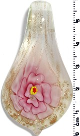 Glass Pendant Flower Spoon Pink PD1359