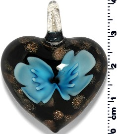 Glass Heart Pendant Sky Blue PD1378