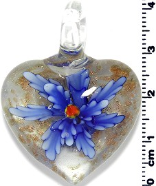 Glass Heart Pendant Royal Blue PD1382