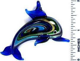 Blue Dolphin Glass Pendant PD2575