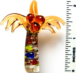 Glass Pendant Palm Tree Orange PD3216