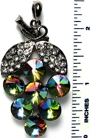 Crystal Pendant Aura Borealis Grapes PD3251