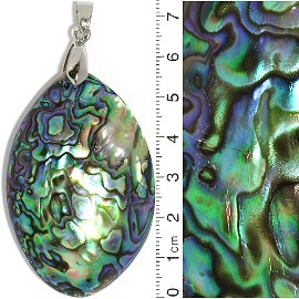 Abalone Pendant Oval Green Purple PD3836
