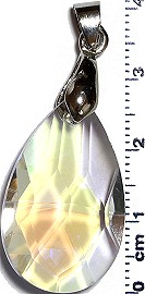 Crystal Pendant Tear Clear Aura PD3979