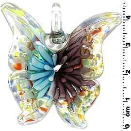 Glass Butterfly Pendant Blue Purple PD3996