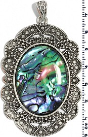 Abalone Long Oval Pendant PD4033