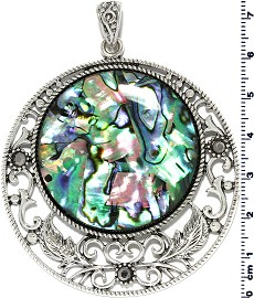 Abalone Round Pendant PD4034