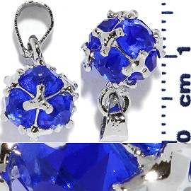 2pc Rhinestone Pendant Ball Blue PD511