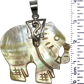 Mother Of Pearl Elephant Right Pendant Light Ivory Yellow PD517