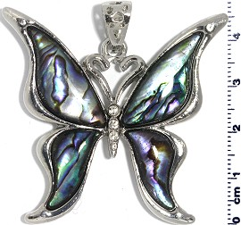 Abalone Pendant Butterfly PD525