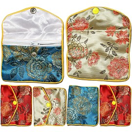 "4""x3"" 6pc Mix Soft Jewelry Protector Asian Pouches PH06"