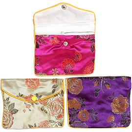 "5""x4"" 6pc Mix Soft Jewelry Protector Asian Pouches PH07"
