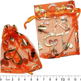 "100pcs 3.5x2.75"" Inches See Through Pouch Orange Gold PH17"