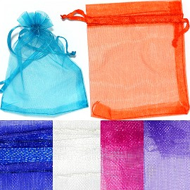 "12pc 4.5x3.75"" Inch See-Through Jewelry Pouch Mix Color PH20"