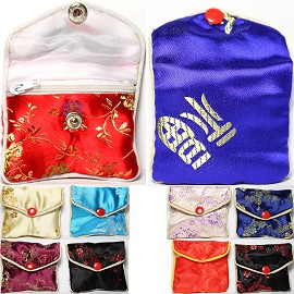 "2.75""x2.5"" 12 pcs Mix Soft Jewelry Protector Asian Pouches PH22"