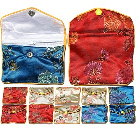 "12 Pcs 4x3"" Mix Color Soft Asian Pouches PH27"
