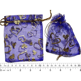 "100pcs 4.75x3.75"" Inches See Through Pouch Blue Gold PH30"