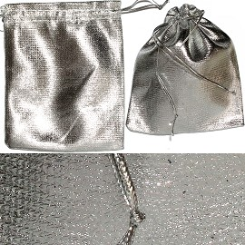 "12pc 2.75x2"" Inch Jewelry Pouch Silver PH39"