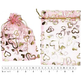 "100pcs 6.75x5"" Inches See Through Pouch Pink Gold PH48"
